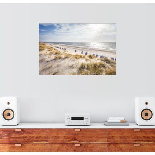 Posterlounge Wandbild, Strandkörbe am Sylter Strand 100 cm x 70 cm;130 cm x 90 cm;150 cm x 100 cm;30 cm x 20 cm;60 cm x 40 cm;90 cm x 60 cm;91 cm x 61 cm