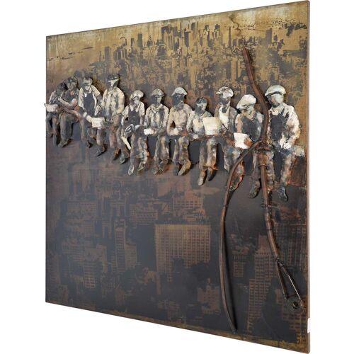 MÖBEL IDEAL Metallbild »Bauarbeiter«, Bauarbeiter