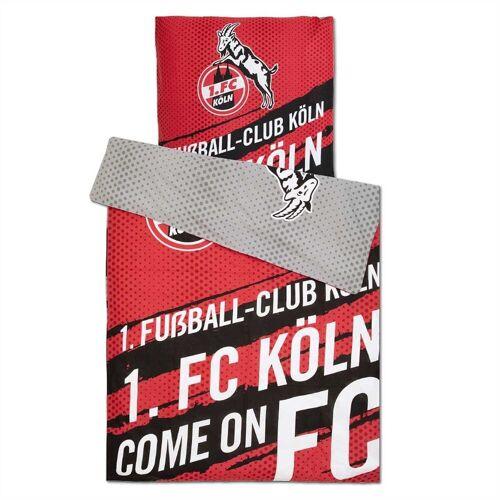 """1. FC Köln Bettwäsche »Wendebettwäsche """"Come on FC""""«,"""