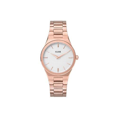 CLUSE Uhr »Uhr Vigoureux«, rosègold-schneeweiß