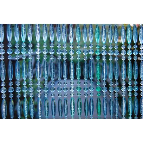 La Tenda Türvorhang »Türvorhang STRESA 2 Perlenvorhang Fliegenvorhang Balkonvorhang Insektenvorhang blautöne«, , individuell in Länge und Breite kürzbar 100 cm x 230 cm;90 cm x 210 cm