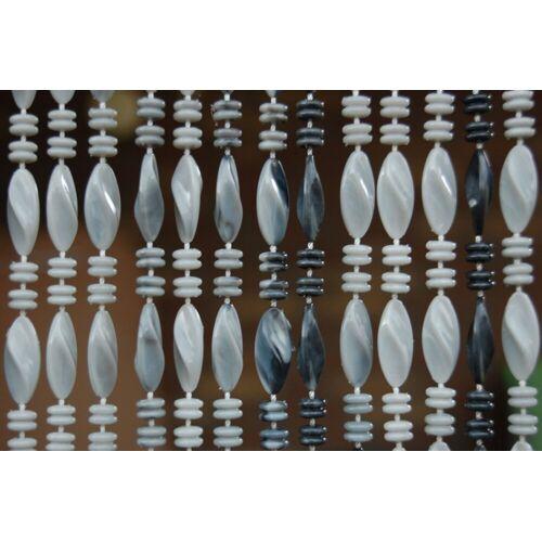 La Tenda Türvorhang »Türvorhang GENOA 2 Perlenvorhang Fliegenvorhang Balkon Insektenvorhang Perlen grau marmoriert«, , individuell in Länge und Breite kürzbar 90 cm x 210 cm;100 cm x 230 cm