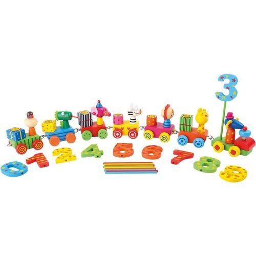 Small Foot Kerzenständer »Kerzenhalter Geburtstagszug Tierparty«