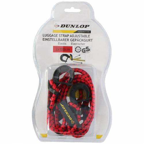 Dunlop »Gepäckgurt einstellbar Gepäckgurt einstellbar« Gepäck-Halterung, (2-tlg), Rot