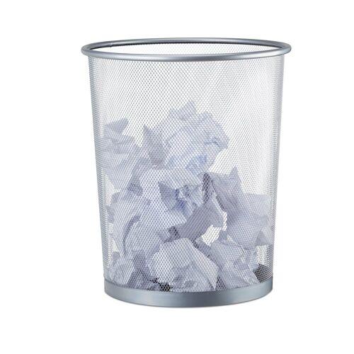 relaxdays Papierkorb »Großer Papierkorb Drahtgeflecht«, Silber