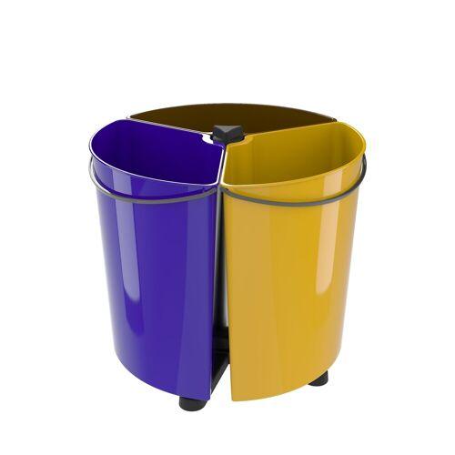 EcoBinSpin Mülltrennsystem »Abfalleimer für Mülltrennung ohne Abdeckung«