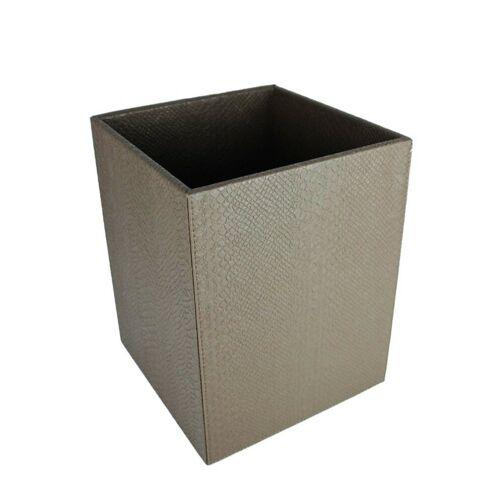 Signature Home Collection Papierkorb »Papierkorb Kroko Kunstleder eckig Mülleimer«, Papierkorb in Kroko Kunstleder: pflegeleicht & abwischbar, taupe