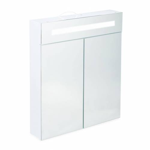 relaxdays Spiegelschrank »LED Spiegelschrank mit 2 Türen«