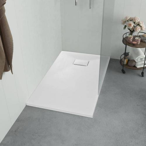 vidaXL Duschwanne »Duschwanne SMC Weiß 100×80 cm«