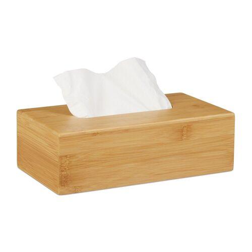 relaxdays Kosmetikbox »Kosmetiktücherbox Bambus 27,5 cm«