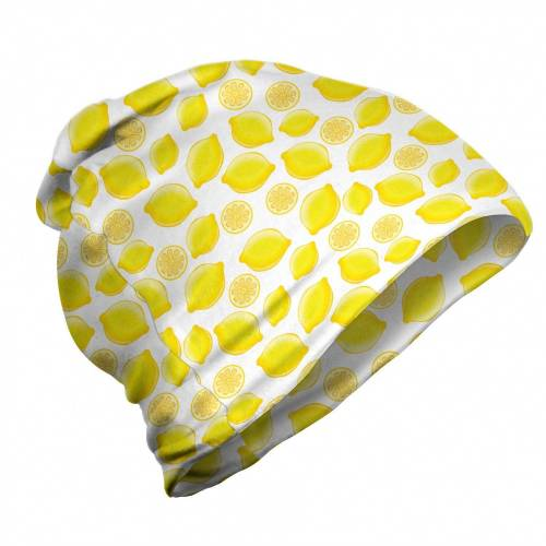 Abakuhaus Beanie »Wandern im Freien« Zitronen Köstliche Zitrusfrüchte Kunst