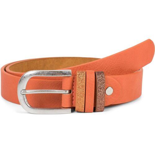 styleBREAKER Synthetikgürtel »Gürtel mit Glitzer an der Schlaufe« Gürtel mit Glitzer an der Schlaufe, Orange 100cm;85cm;90cm;95cm