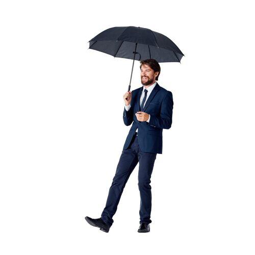 Burnell & Son Taschenregenschirm »kompakter Regenschirm mit großem Schirmdach«, sturmfester automatik Taschenschirm inkl. Trockentasche