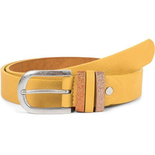 styleBREAKER Synthetikgürtel »Gürtel mit Glitzer an der Schlaufe« Gürtel mit Glitzer an der Schlaufe, Gelb 85cm;95cm;90cm