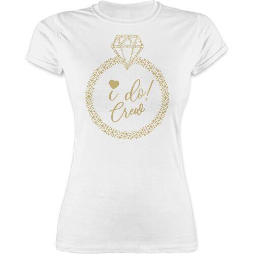 Shirtracer T-Shirt »I do! Crew - JGA Junggesellenabschied Frauen - Damen Premium T-Shirt« Junggesellinnenabschied Damen, 1 Weiß L;M;S;XL;XXL