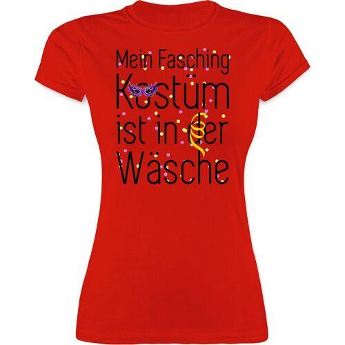 Shirtracer T-Shirt »Mein Fasching Kostüm ist in der Wäsche - Karneval & Fasching - Damen Premium T-Shirt«, 1 Rot L;M;S;XL;XXL