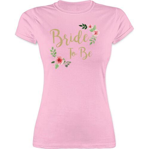 Shirtracer T-Shirt »Bride To Be - JGA Junggesellenabschied Frauen - Damen Premium T-Shirt« Junggesellinnenabschied Damen, 3 Rosa L;M;S;XL;XXL