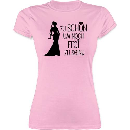 Shirtracer T-Shirt »Zu schön um noch frei zu sein - JGA Junggesellenabschied Frauen - Damen Premium T-Shirt« Junggesellinnenabschied Damen, 1 Rosa L;M;S;XL;XXL