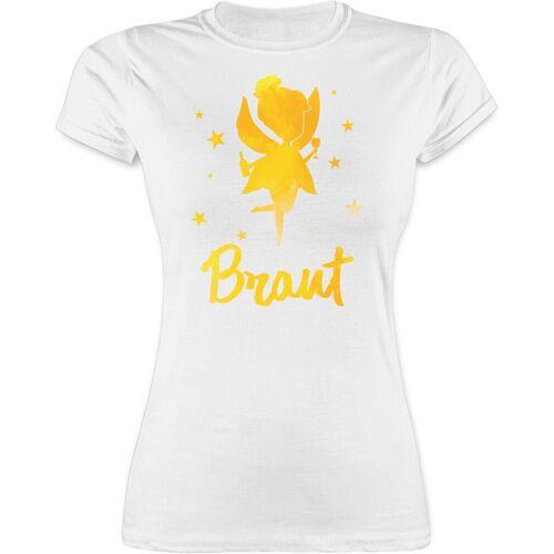 Shirtracer T-Shirt »JGA Fee - Braut - JGA Junggesellenabschied Frauen - Damen Premium T-Shirt« Junggesellinnenabschied Damen, 1 Weiß L;M;S;XL;XXL