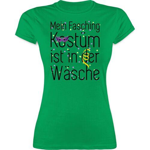Shirtracer T-Shirt »Mein Fasching Kostüm ist in der Wäsche - Karneval & Fasching - Damen Premium T-Shirt«, 2 Grün L;M;S;XL;XXL