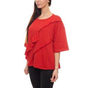 Heine 3/4 Arm-Pullover »Sweater niedlicher Damen Halbarm-Pullover mit Rüschen Rundhals-Pullover Rot« 38;40