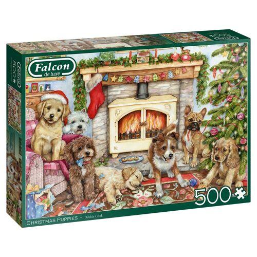 Falcon Puzzle »11310 Debbie Cook Christmas Puppies«, 500 Puzzleteile