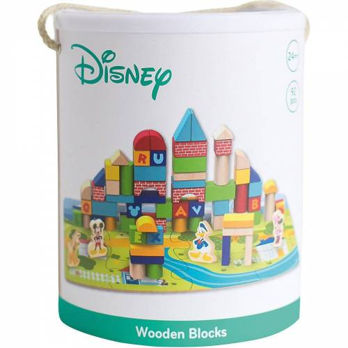 Disney Mickey Mouse Puzzle »Mickey Mouse Puzzle mit Holzbausteinen, 92 Teile«, Puzzleteile