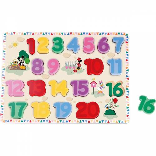 Disney Mickey Mouse Steckpuzzle »Mickey Mouse Zahlen Steckpuzzle«, Puzzleteile