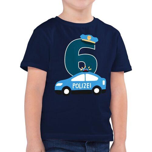 Shirtracer T-Shirt »Polizei Geburtstag 6 - Geburtstag Geschenk Kinder - Jungen Kinder T-Shirt« Kindergeburtstag Geburtstagsgeschenk