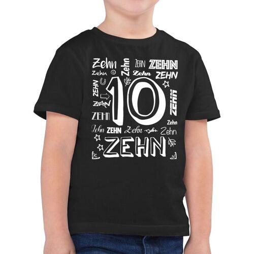 Shirtracer T-Shirt »10. Geburtstag Zahlen - Geburtstag Geschenk Kinder - Jungen Kinder T-Shirt« Kindergeburtstag Geburtstagsgeschenk, 2 Schwarz 104 (3/4 Jahre);116 (5/6 Jahre);128 (7/8 Jahre);140 (9/11 Jahre);152 (12/13 Jahre);164 (14/15 Jahre)
