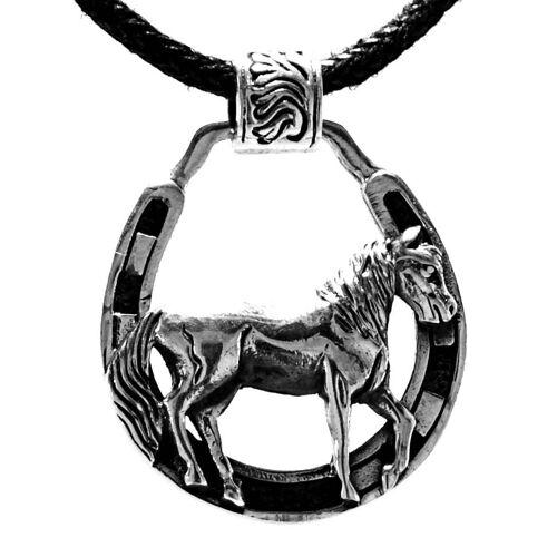 Kiss of Leather Kettenanhänger »Pferdeanhänger Pferd Pferdanhänger Pferde Horse Anhänger 925 Silber Nr. 413«