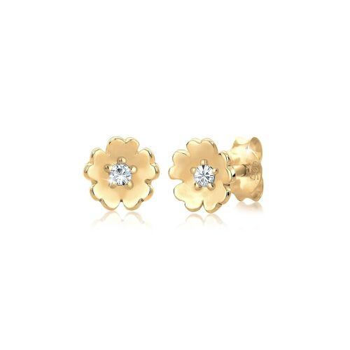 Elli Paar Ohrstecker »Blume Garten Kristalle 925 Silber«, Blume