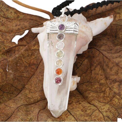 Guru-Shop Kettenanhänger »7 Chakren Kristall Amulett«
