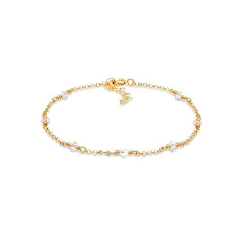 Elli Armband »Elegant Kristalle 925 Silber«, Kristall Armband, Gold