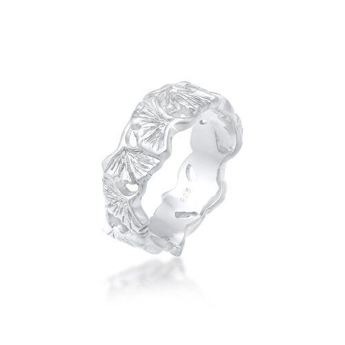 Elli Fingerring »Ginkgo Blätter Trend Cool Glück 925 Silber«, Ginkgo 52;54;56;58