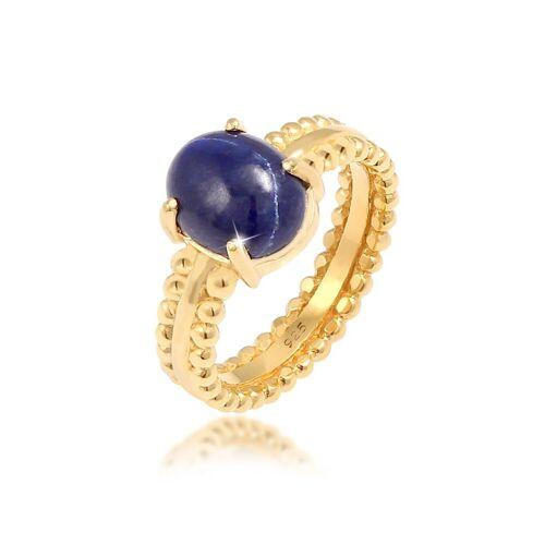 Elli Premium Fingerring »Labis Lazuli Edelstein Oval 925 Silber«, Edelstein Ring 54;56;52;58
