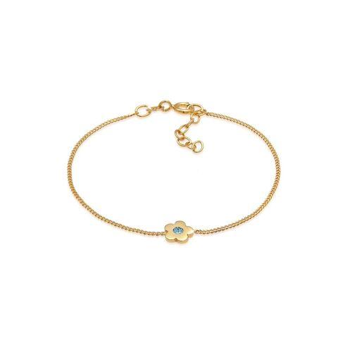 Elli Armband »Kinder Blume Kristalle 925 Silber«, Blume