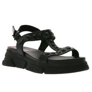 s.Oliver »Sandalette pflegeleichte Damen Riemchen-Sandale mit Nieten Sommer-Schuhe Schwarz« Sandale 36;37;38;39;40;41;42