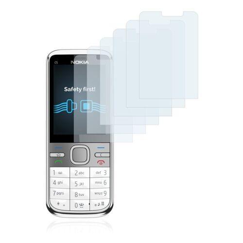 Savvies Schutzfolie »für Nokia C5-00 5MP«, (6 Stück), Folie Schutzfolie klar