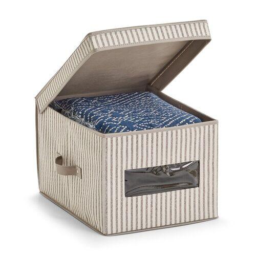 HTI-Living Aufbewahrungsbox »Aufbewahrungsbox mit Deckel Stripes«, Aufbewahrungsbox 30 cm x 25 cm x 39.5 cm