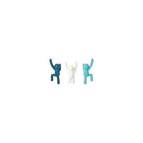 "Umbra Kleiderhaken »3-tlg. Kleiderhaken Set ""Buddy""«, , blau"