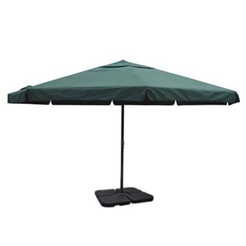 vidaXL Sonnenschirm »Sonnenschirm Weiß und Grün 500 cm Aluminium mit Schirmständer«, Grün