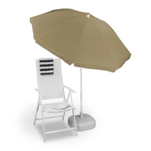relaxdays Sonnenschirm »Sonnenschirm 180 cm«, Taupe