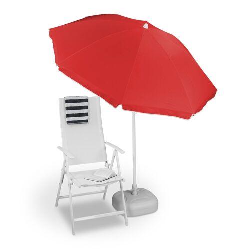 relaxdays Sonnenschirm »Sonnenschirm 180 cm«, Rot