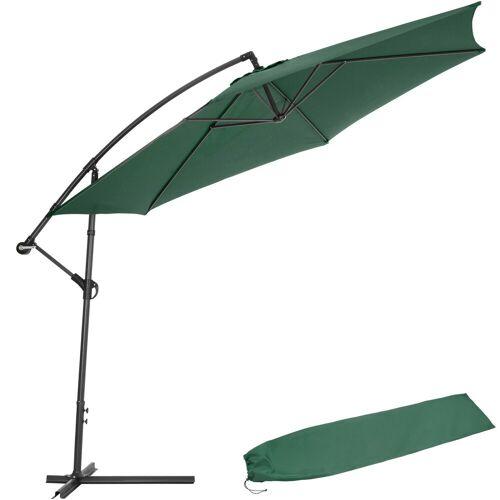 tectake Sonnenschirm »Sonnenschirm Ampelschirm Ø 350cm mit Schutzhülle«, grün