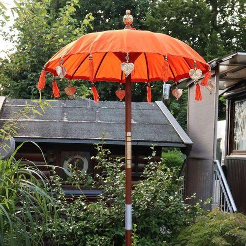 Oriental Galerie Sonnenschirm »Bali-Sonnenschirm 90 cm Orangee«, Handarbeit