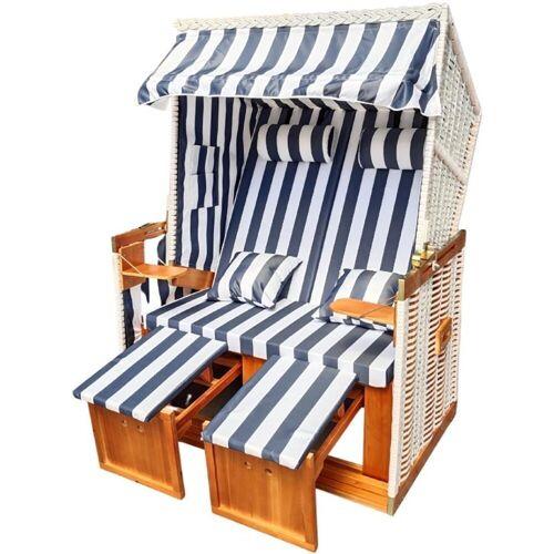 normani Strandkorb »Premium Strandkorb 2-Sitzer«, BxTxH: 120x80x160 cm, Premium Qualität – inklusive Abdeckhaube