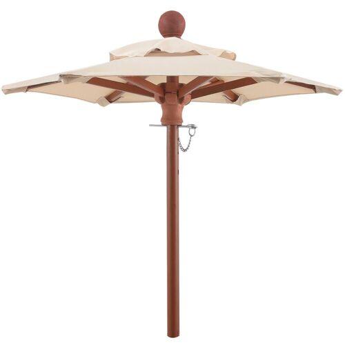 anndora-sonnenschirm Sonnenschirm »anndora® Mini Tisch Sonnenschirm Deko Schirm 100 cm rund + Winddach Natural«