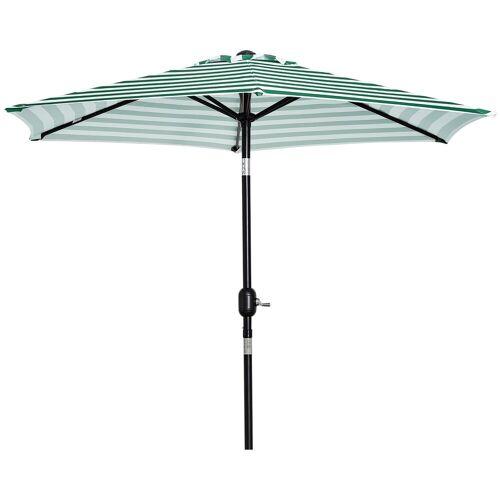 Outsunny Sonnenschirm »Sonnenschirm mit verstellbarem Winkel«, grüner Streifen