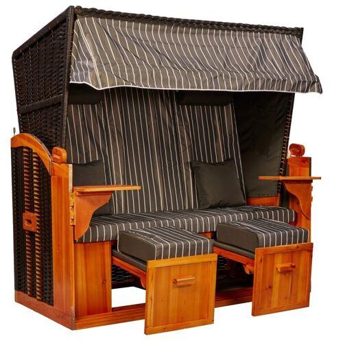 intergrill Strandkorb »Strandschönheiten Claudia Ostsee XXL Strandkorb 2,5 Sitzer«, BxTxH: 155x80x160 cm, Gartenmöbel